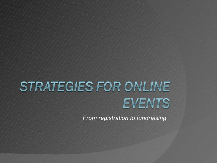 Strategies For Online Events & Fundraising