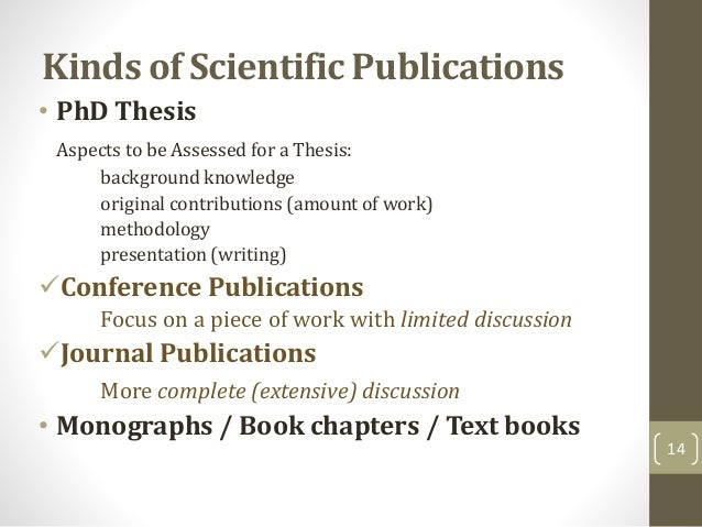 Publishing a phd thesis
