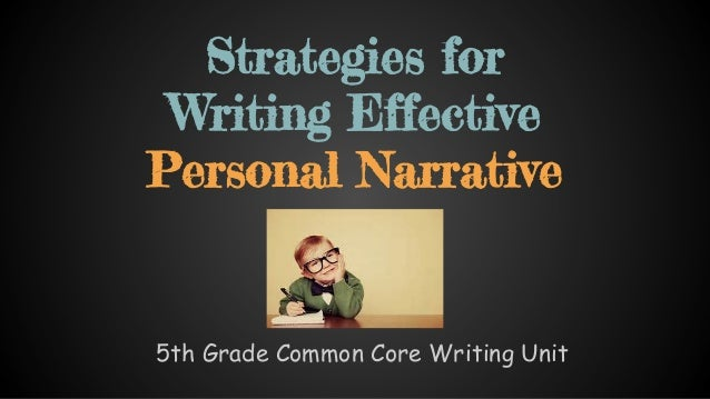 Effective personal essay writing