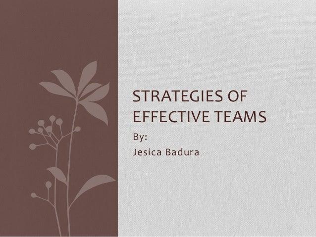Strategies of effective teams   badura