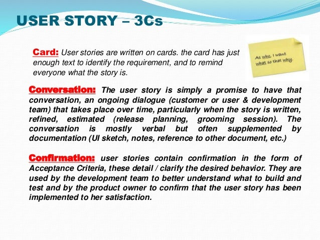 user story template document