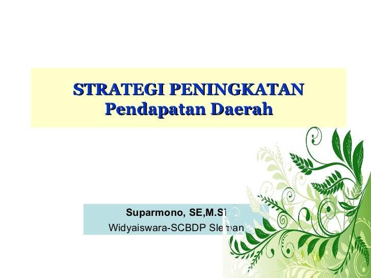 Strategi peningkatan pendapatan daerah