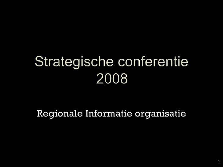 Strategische Conferentie Bzo 2008