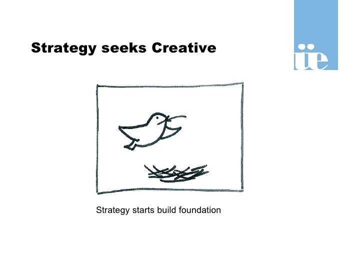 Strategy seeks Creative Strategy starts build foundation