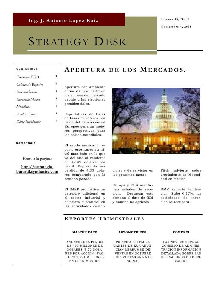 Strategy Desk Nov 4