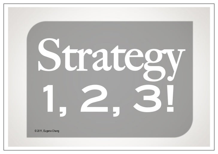 Strategy 1 2 3