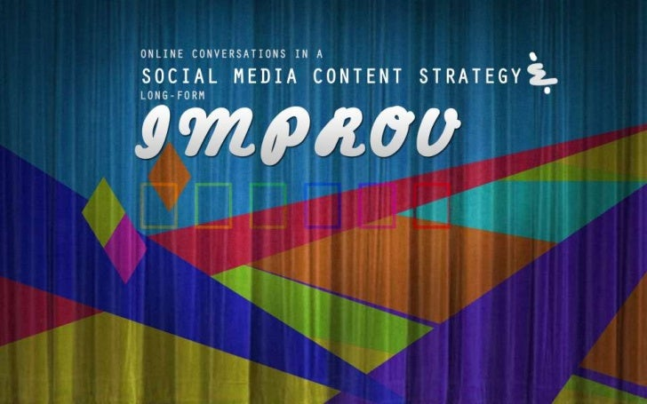 Creative Social Media Content Strategy and Engagement through Improvisation