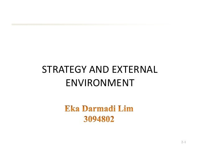 STRATEGY AND EXTERNAL ENVIRONMENT 2–1