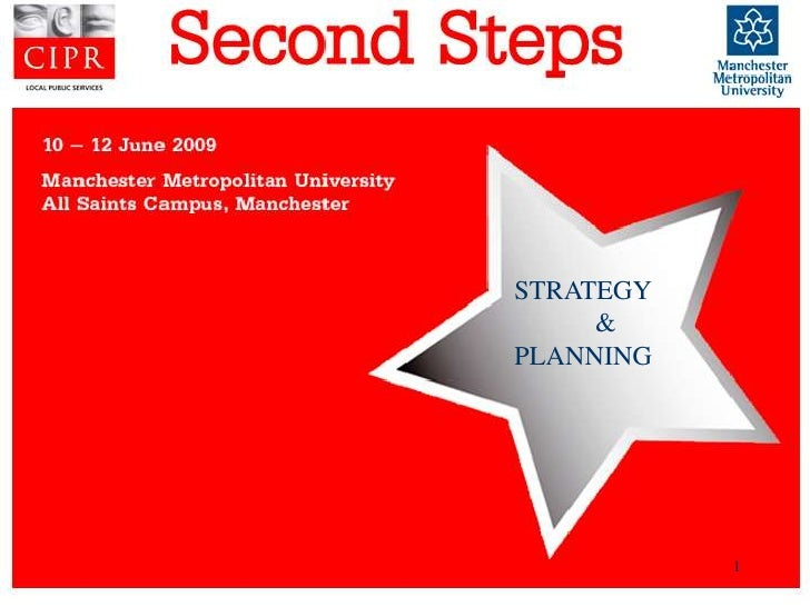 STRATEGY      & PLANNING                1