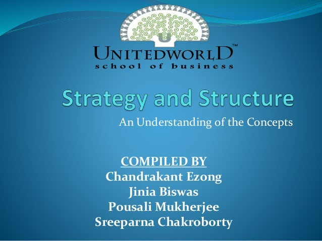 Presentation on Strategy and structure