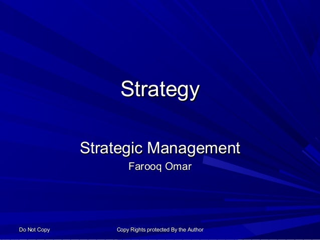 Strategy Business Intent