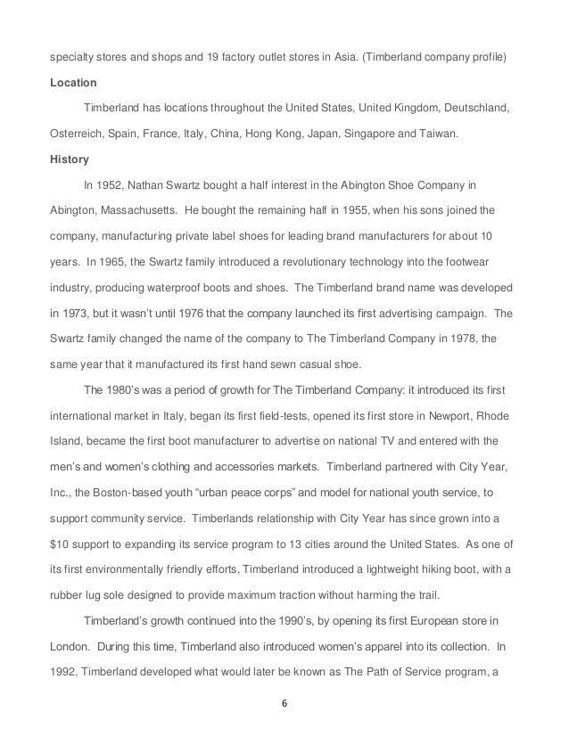 timberland company profile