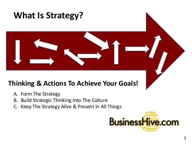 Strategy Development BusinessHive.com 2014