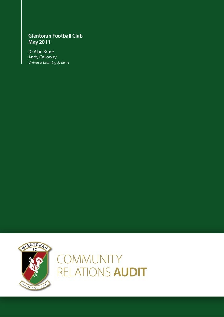 Community Relations Audit: Glentoran FC, Belfast (May 2011)