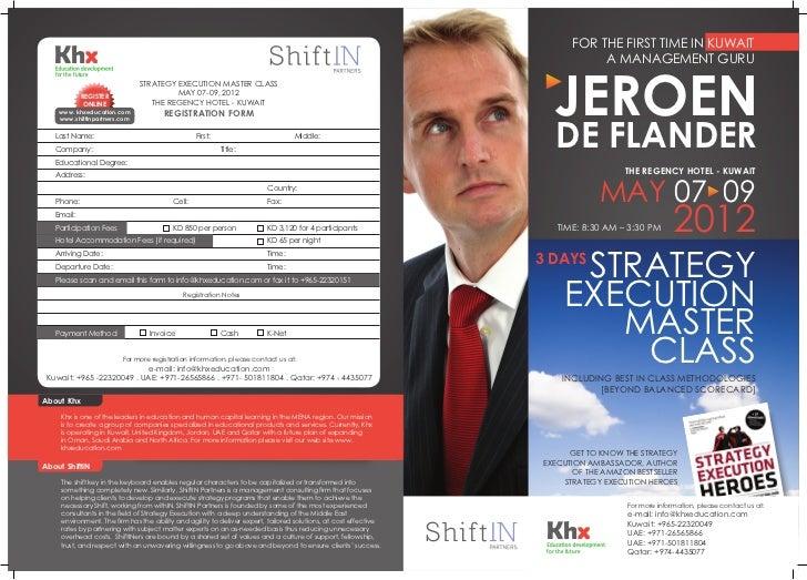 Strategy execution masterclass Kuwait, May 2012, Jeroen De Flander