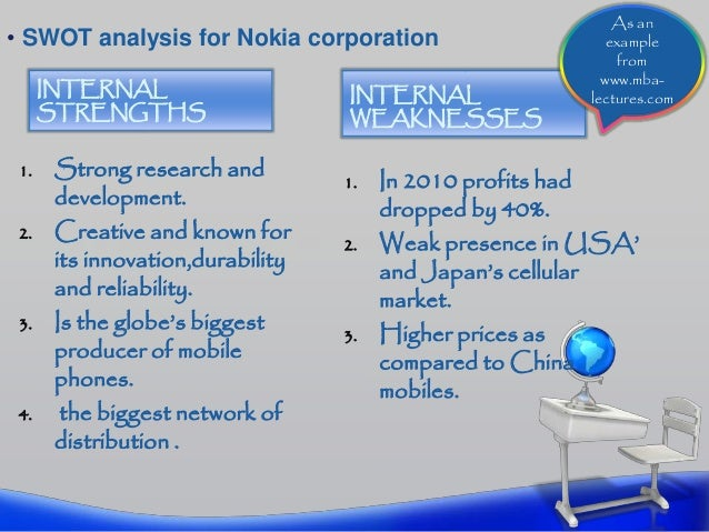 nokia strategy formulation Strategy formation is the process by which an organization develops and implements a strategy all steps of the process should be followed in order because they build upon each other, except for.
