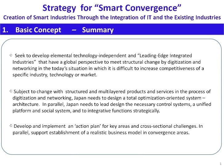 Strategy for Smart Convergence