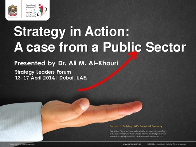 Strategy in Action: A Case from a Public Sector