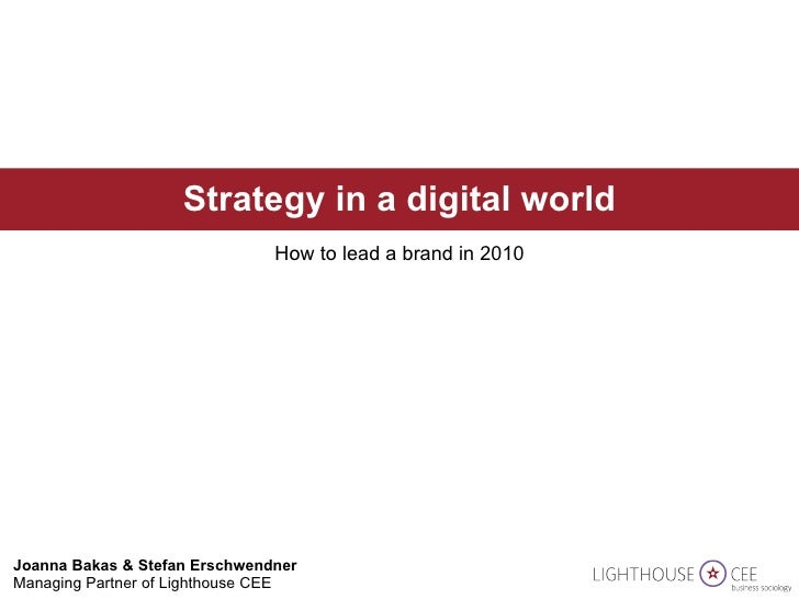 Strategy in a digital world