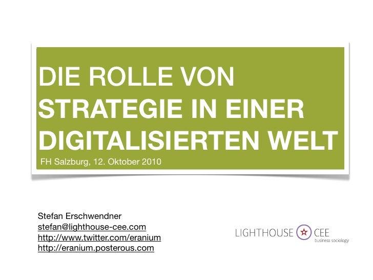 Strategy in a digital world