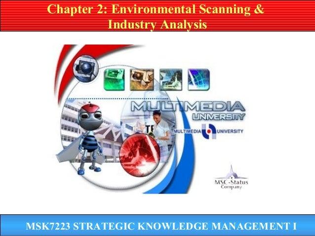 MSK7223 STRATEGIC KNOWLEDGE MANAGEMENT I Chapter 2: Environmental Scanning & Industry Analysis