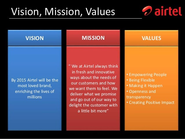 mission and vision of bharti airtel Check out our top free essays on bharti airtel corporate vision mission to help you write your own essay.