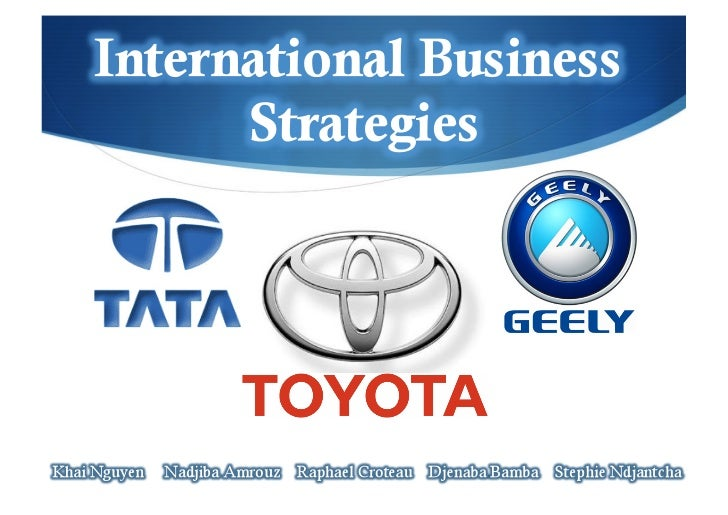 operation strategy of toyota