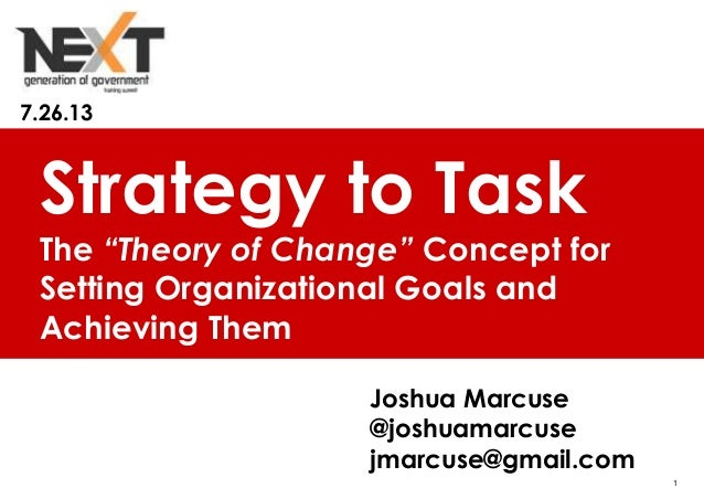 "1 Young Professionals In Foreign Policy Strategy to Task The ""Theory of Change"" Concept for Setting Organizational Goals a..."