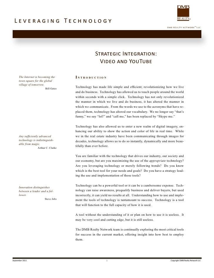 Leveraging Technology                                                      Strategic Integration:                         ...