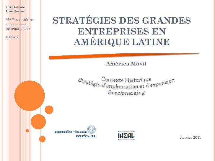 GuillaumeHoudouinM2 Pro «Affaireset commerce         STRATÉGIES DES GRANDES                        ENTREPRISES ENinternat...