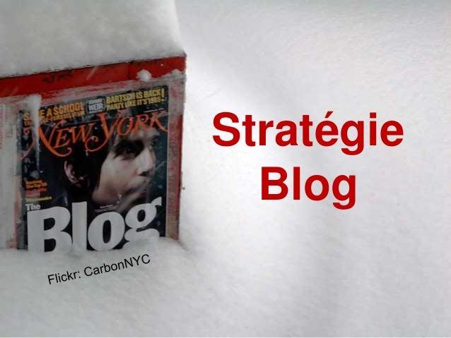 Stratégie Blog