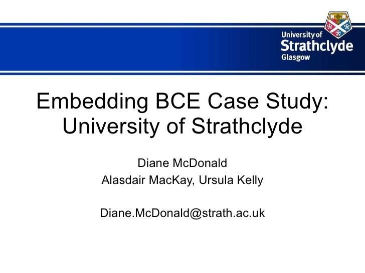 Embedding BCE - Institutional Showcase (Strathclyde)