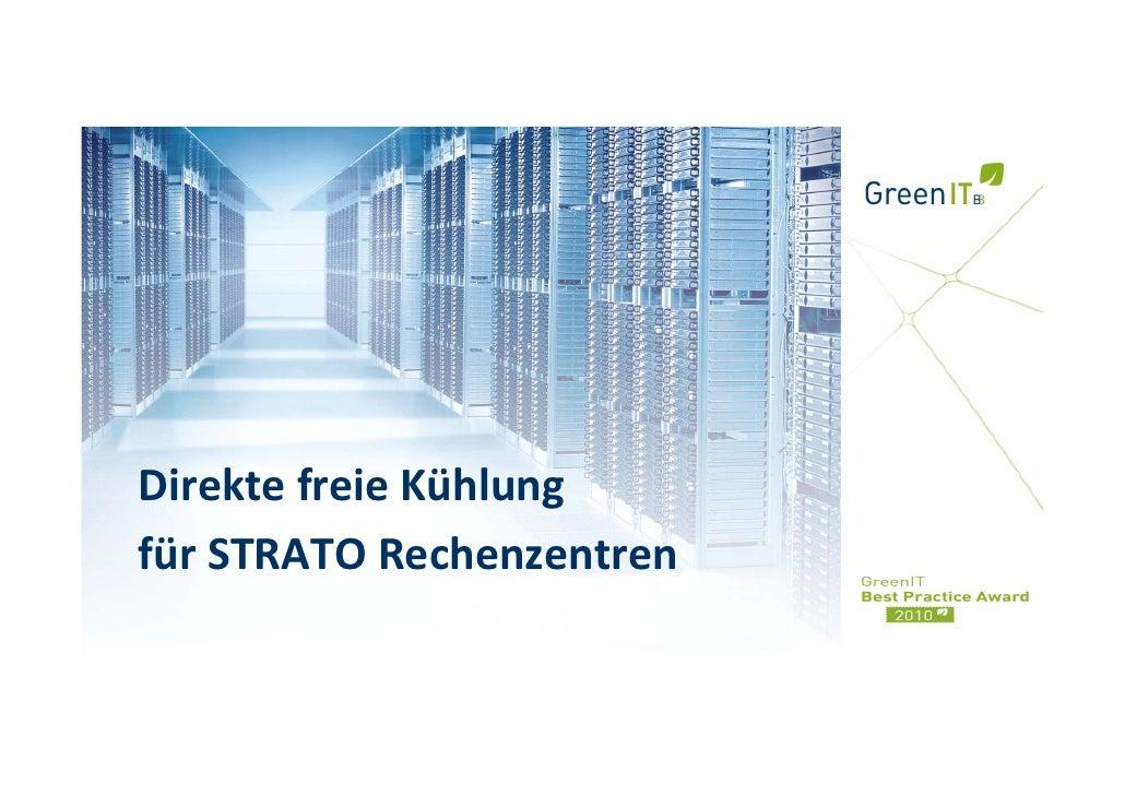 Strato AG - Freie Kühlung