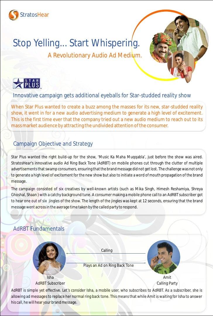 StratosHear     Stop Yelling... Start Whispering.                       A Revolutionary Audio Ad Medium.      Innovative c...