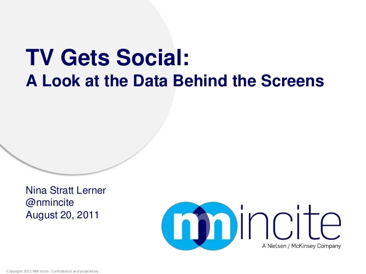 TV Gets Social: A Look at the Data Behind the Screens<br />Nina Stratt Lerner@nmincite<br />August 20, 2011<br />