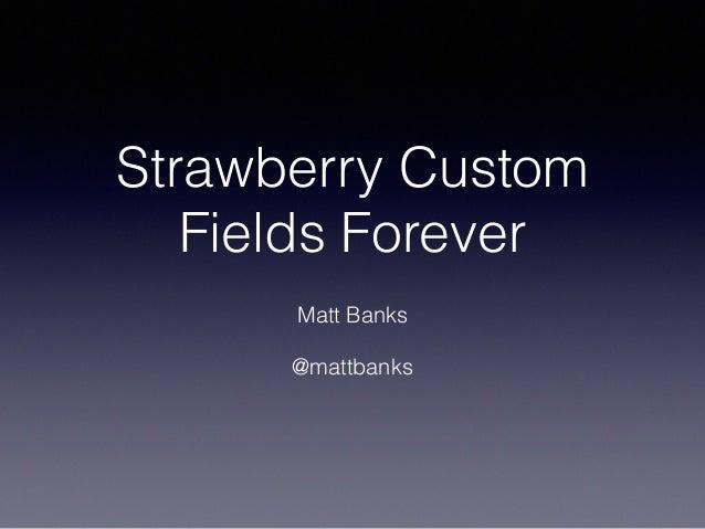 Strawberry Custom Fields Forever - WordPress Metadata and Custom Fields