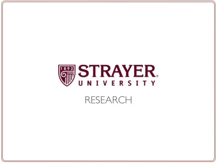 Strayer research