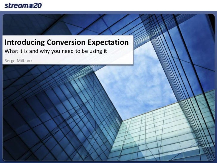 conversion expectations- a metrices for sales growth