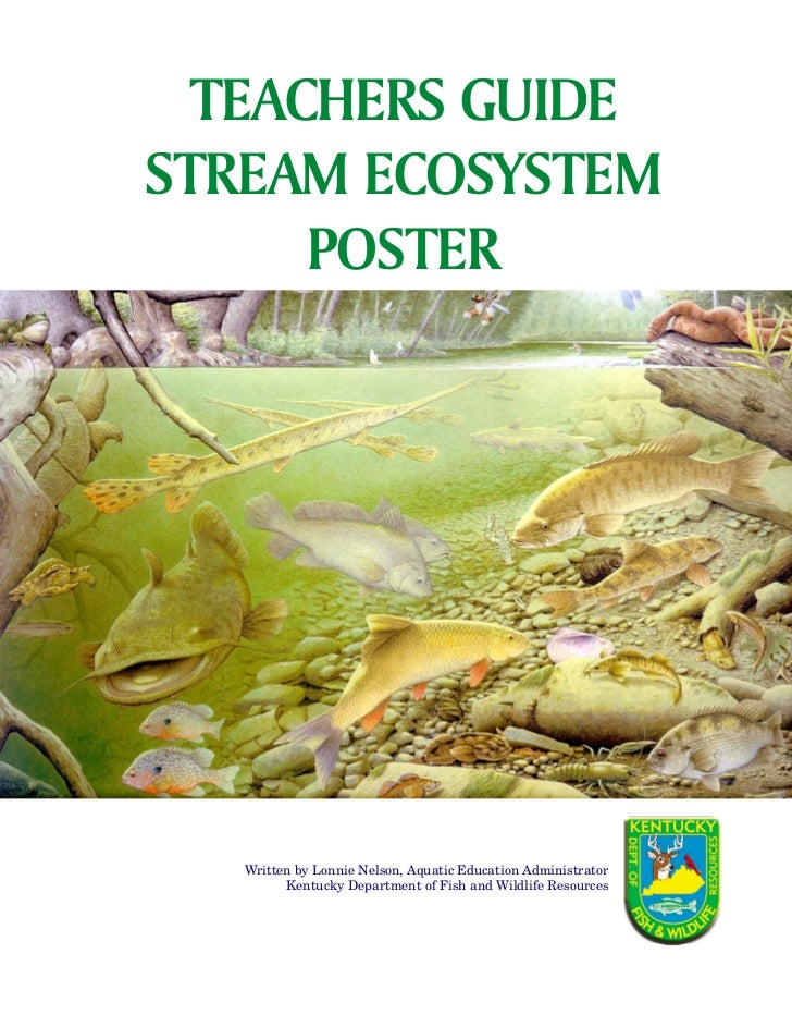 TEACHERS GUIDE               NotesSTREAM ECOSYSTEM      POSTER   Written by Lonnie Nelson, Aquatic Education Administrator...