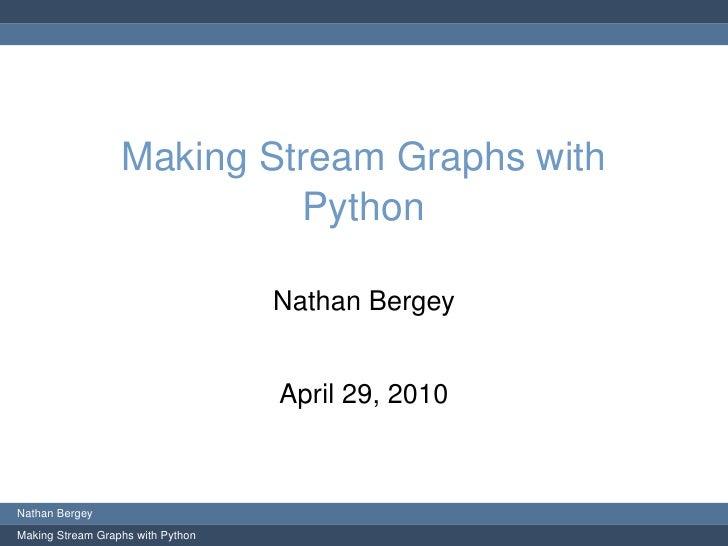 Stream Graphs with Python