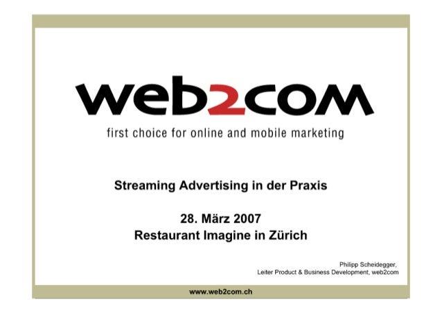 Streaming Advertising in der Praxis