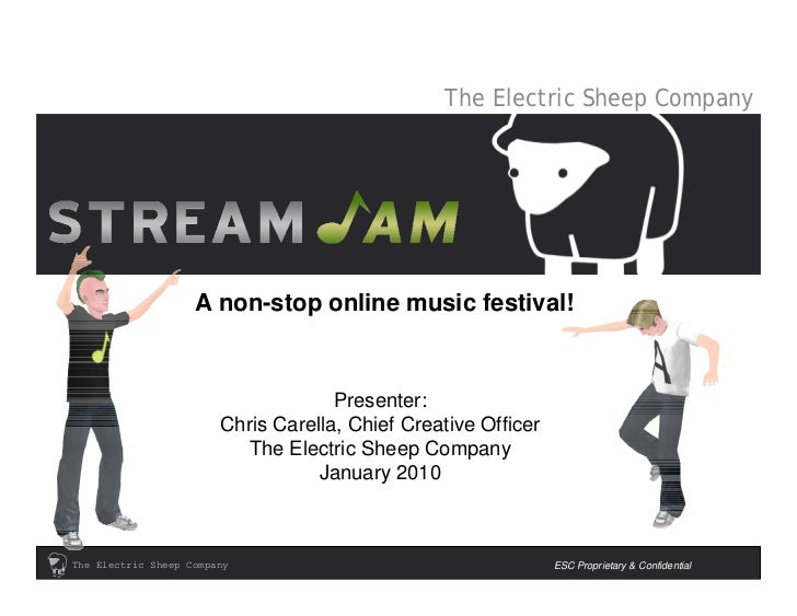 The Electric Sheep Company                         A non-stop online music festival!                                      ...