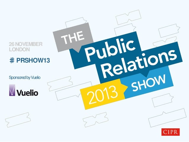 The Public Relations Show - Stream Two - Government, communities and society