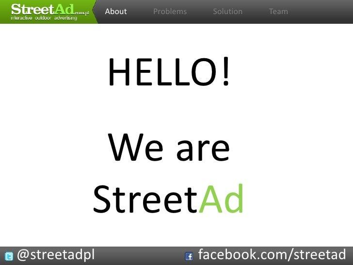 StreetAd - interactive outdoor advertising (Startup Weekend Szczecin)