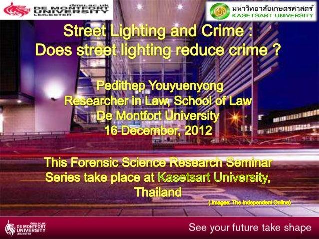 Street lighting and crime - kasetsart university seminar