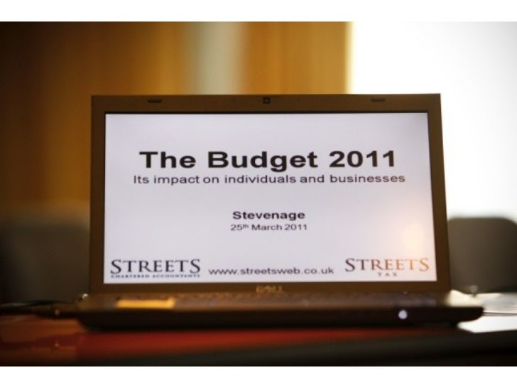 Photographs of Streets Budget Roadshow 2011
