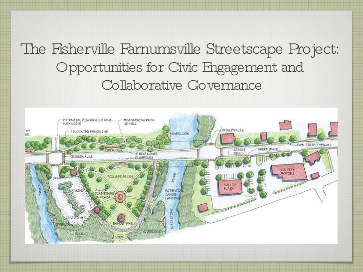 The Fisherville Farnumsville Streetscape Project:  Opportunities for Civic Engagement and  Collaborative Governance