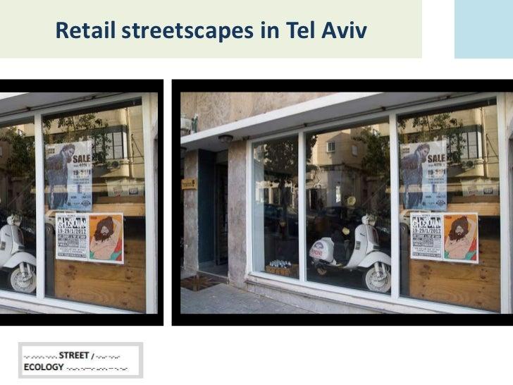 Retail streetscapes in Tel Aviv
