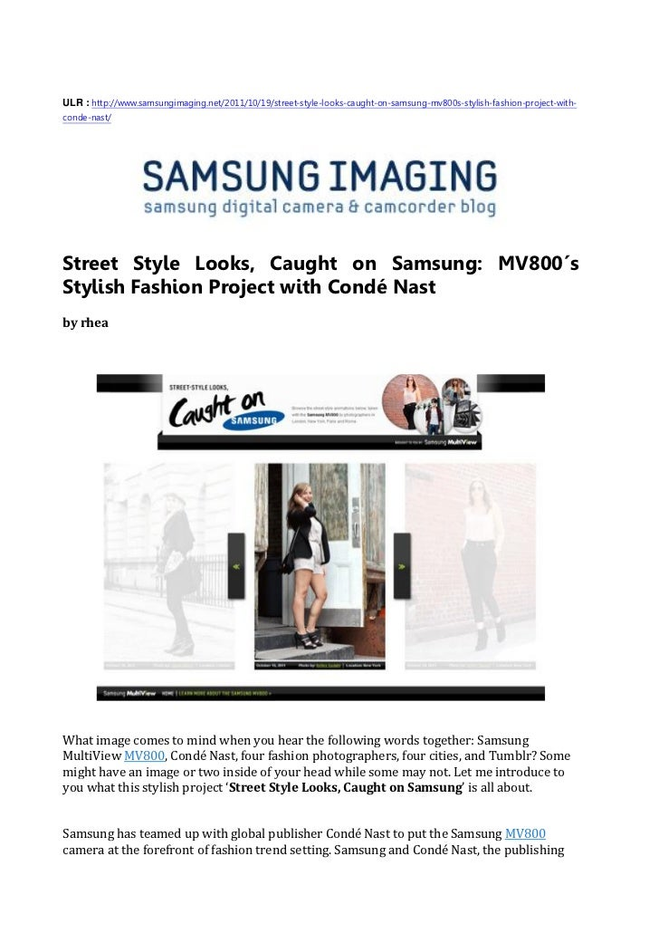 Street style looks, caught on samsung   mv800′s stylish fashion project with condé nast