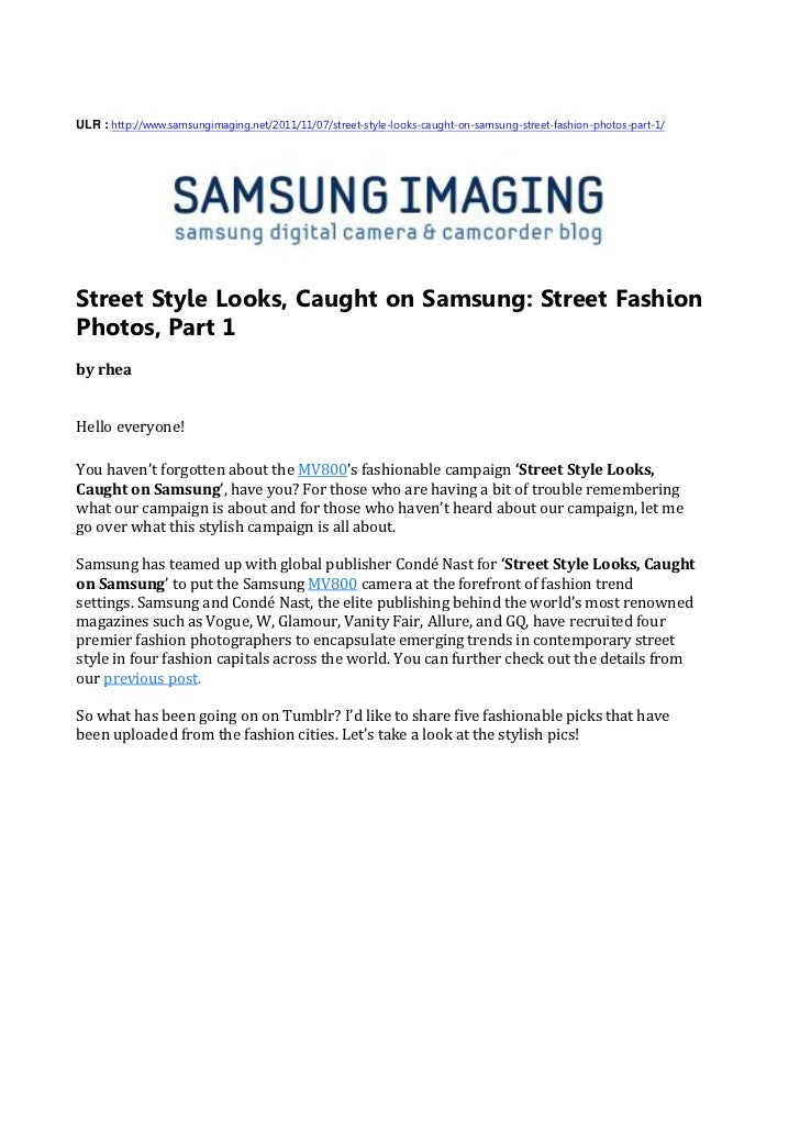 Street Style Looks, Caught on Samsung - Street Fashion Photos, Part 1(SAMSUNG IMAGING)